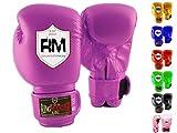 Ringmasteruk Guantes de Boxeo para niños de Piel sintética, Color Morado,...