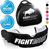 Protector bucal/protector de dientes FIGHT MODE ® en negro + funda + eBook...