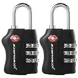2 X TSA - Security Padlock Candados De Seguridad - Combinación De 3...