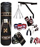 MADX - Set de boxeo (13 piezas, saco de 1,52 m con relleno, guantes,...
