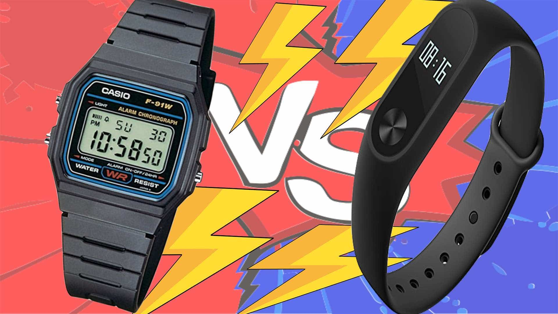 Reloj deportivo – Xiaomi Band 2 vs Casio F-91W
